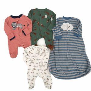 Carters Newborn Zip Up Sleepers Lot